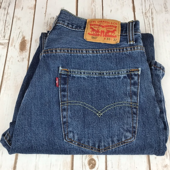 Levi's Denim - Levi's 550, High Rise All Cotton Relaxed Fit Jeans